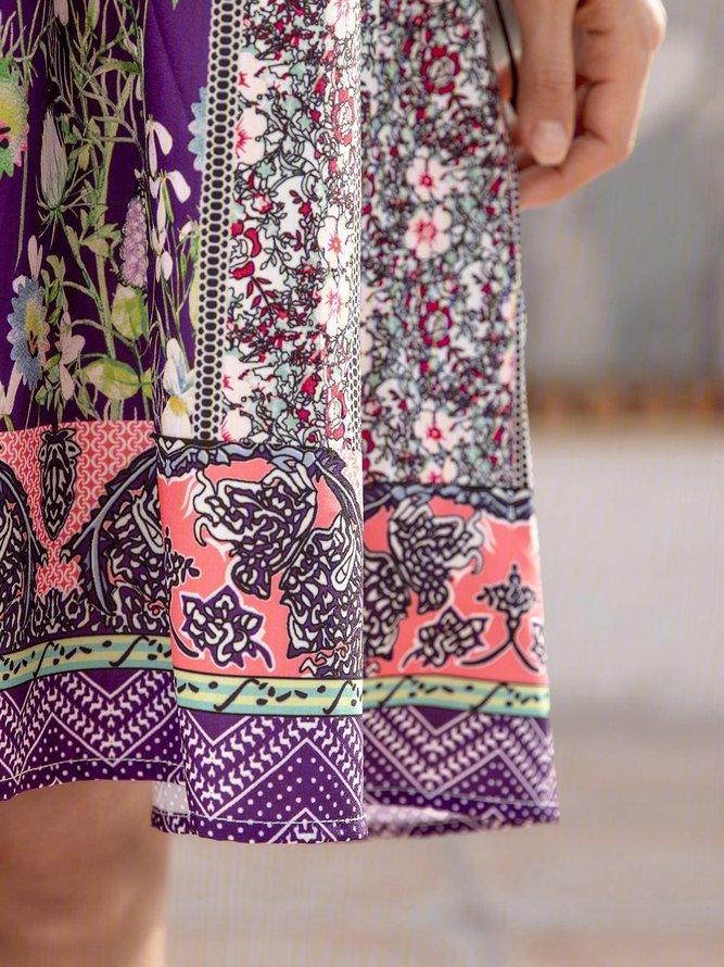 blumenkleid mit vausschnitt für damen sommerkleider